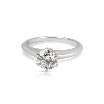 Tiffany Co Diamond Engagement Ring in Platinum F VS1 0 91 CTW
