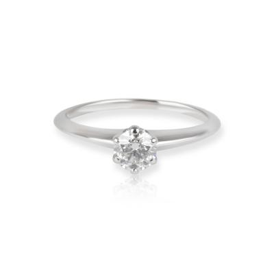 Tiffany Co Diamond Engagement Ring in Platinum F VVS1 0 39 CTW