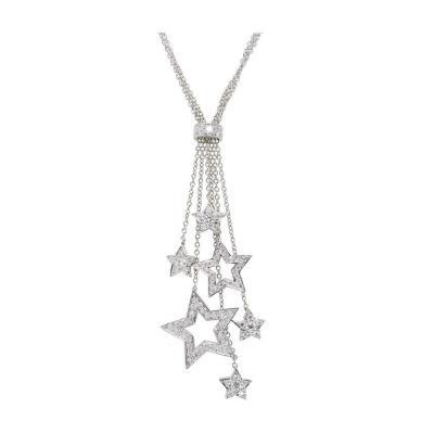 Tiffany Co Diamond Platinum Multi Star Pendant Necklace