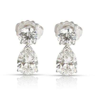 Tiffany Co Diamond Teardrop Earring in Platinum GIA Certified 6 69 CTW