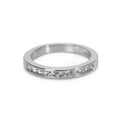 Tiffany Co Diamond Wedding Band in Platinum 0 22 CTW
