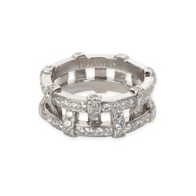 Tiffany Co Diamond Woven Double Eternity Bands in Platinum 2 1 CTW