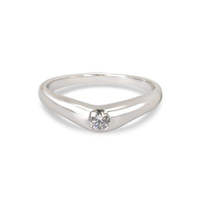 Tiffany Co Elsa Peretti Diamond Band in Platinum 0 18ct