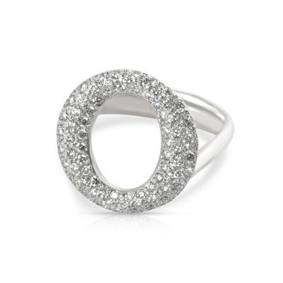 Tiffany Co Elsa Peretti Sevillana Diamond Ring in Platinum 0 8 CTW