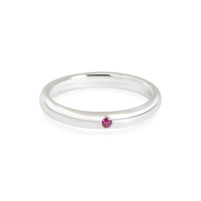 Tiffany Co Elsa Peretti Stackable Ruby Band in Sterling Silver