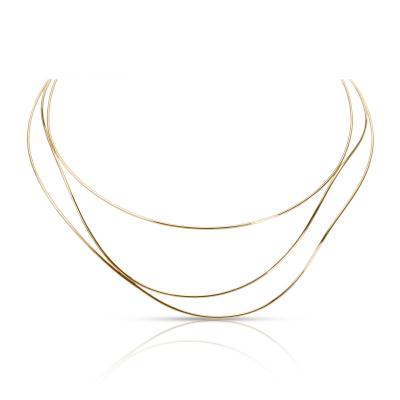 Tiffany Co Elsa Peretti Wave Necklace in 18K Yellow Gold