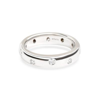 Tiffany Co Etoile Diamond Band in Platinum 0 25 CTW