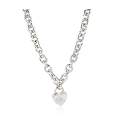 Tiffany Co Heart Locket Necklace in Sterling Silver