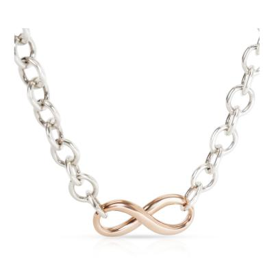 Tiffany Co Infinity Necklace in Rubedo Sterling Silver