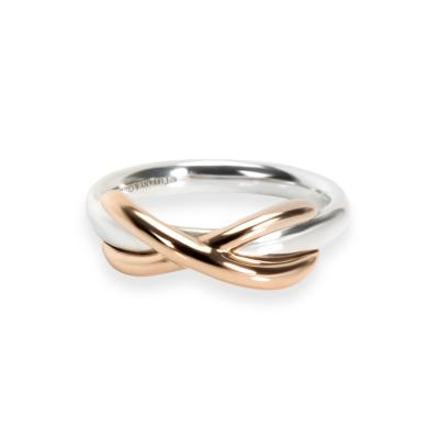 Tiffany Co Infinity Ring in Sterling 18KT Gold