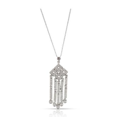 Tiffany Co Jazz Diamond Necklace in Platinum 1 80 CTW