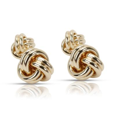 Tiffany Co Knot Cufflinks in 14K Yellow Gold