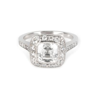 Tiffany Co Legacy Diamond Engagement Ring in Platinum G VS1 1 96 CTW