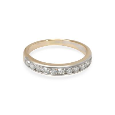 Tiffany Co Lucida Diamond Wedding Band in 18K Gold Platinum 0 55 CTW