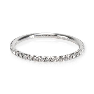Tiffany Co Metro Diamond Band in 18K White Gold 0 21 CTW