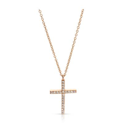 Tiffany Co Metro Diamond Necklace in 18KT Rose Gold 0 10 CTW