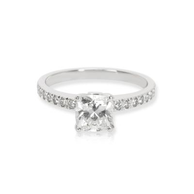 Tiffany Co Novo Diamond Engagement Ring in Platinum H VS1 1 08 CTW