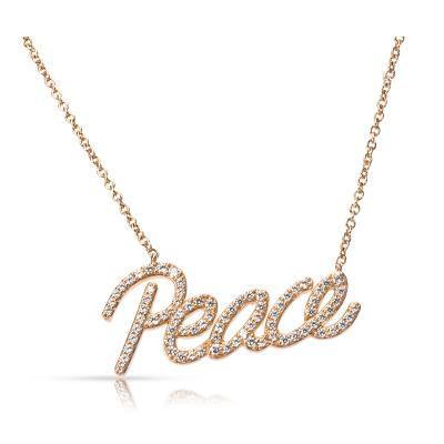 Tiffany Co Paloma Picasso Graffiti Peace Pendant in 18K Rose Gold 0 21 ctw