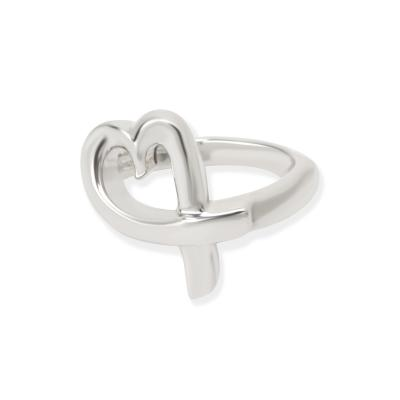 Tiffany Co Paloma Picasso Loving Heart Ring in Sterling Silver