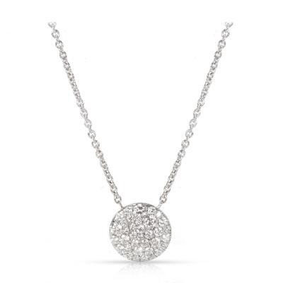 Tiffany Co Round Diamond Pendant in 18K White Gold 0 29 CTW