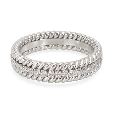 Tiffany Co Schlumberger Rope Diamond Eternity Band in Platinum 0 29 CTW