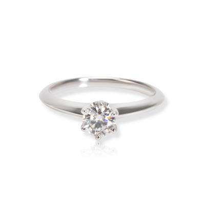 Tiffany Co Solitaire Diamond Engagement Ring in Platinum G H VVS1VVS2 0 39ct