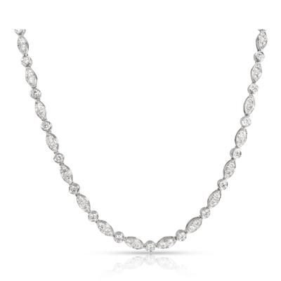 Tiffany Co Swing Diamond Tennis Necklace in Platinum 3 60 CTW
