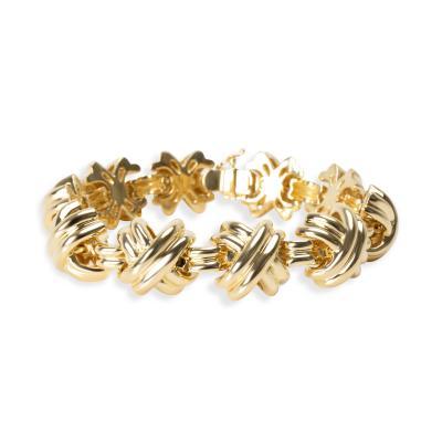 Tiffany Co X Bracelet in 18K Yellow Gold