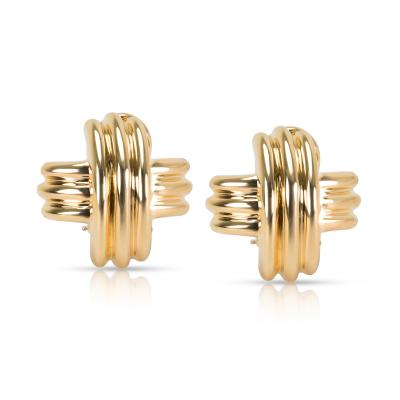 Tiffany Co X Earrings in 18K Yellow Gold