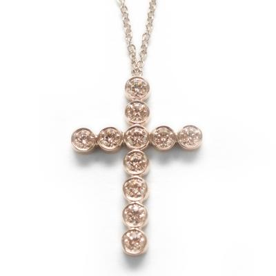 Tiffany Co diamond cross necklace