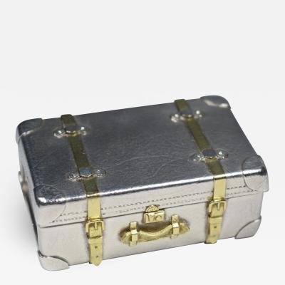 Tiffany Miniature Box Suitcase Karel Bartosik Sterling Silver 18 K Gold