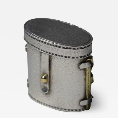 Tiffany Pillbox Binocular Case Karel Bartosik Sterling Silver 18 K Gold