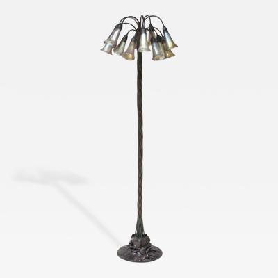 Tiffany Studios 12 Light Lily Floor Lamp