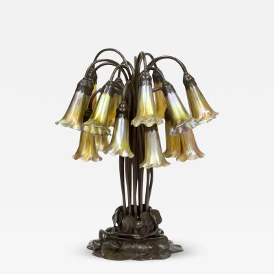 Tiffany Studios 18 Light Lily Table Lamp