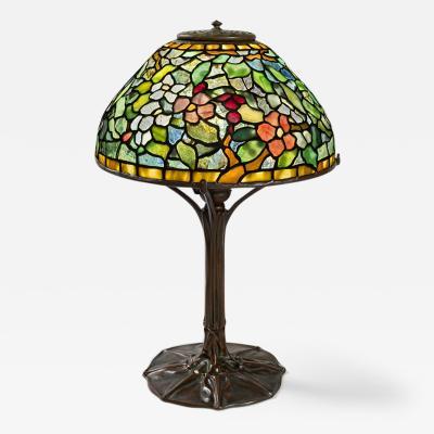 Tiffany Studios A Tiffany Studios New York Apple Blossom Table Lamp