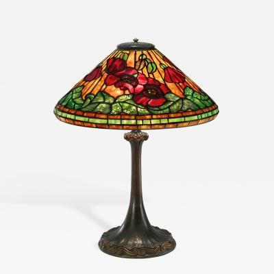 Tiffany Studios A Tiffany Studios New York Wire Mesh Poppy Table Lamp