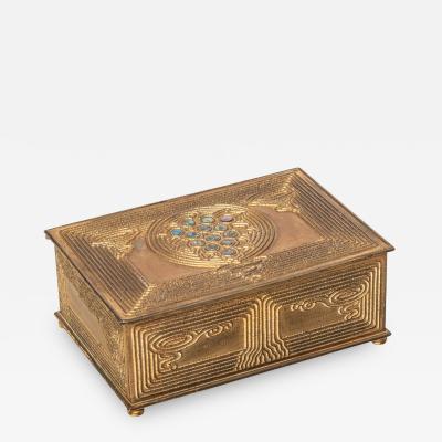 Tiffany Studios Abalone Pattern Box