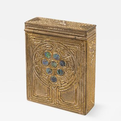 Tiffany Studios Abalone Playing Card Case by Tiffany