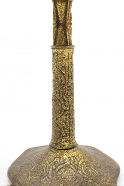 Tiffany Studios American Victorian Bronze Dore Tiffany Table Lamps