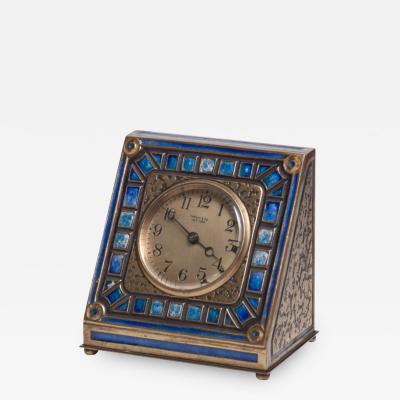 Tiffany Studios Art Deco Enameled Desk Clock