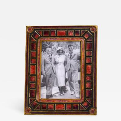 Tiffany Studios Art Deco Pattern Picture Frame
