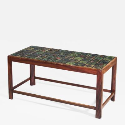 Tiffany Studios Coffee Table with Tiffany Favrile Glass Tile inlay