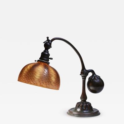 Tiffany Studios Counter Balance Desk Lamp with Favrile Glass Shade