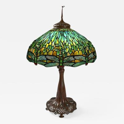 Tiffany Studios Dragonfly Tiffany Lamp