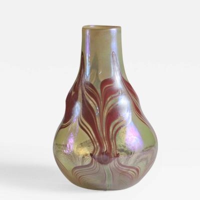 Tiffany Studios Early Decorated Favrile Glass Vase