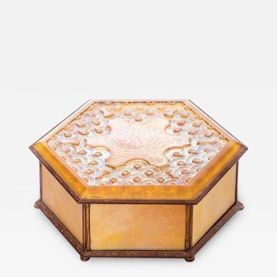 Tiffany Studios Favrile Glass Covered Box