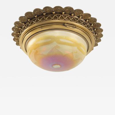 Tiffany Studios Favrile Glass Tiffany Chandelier