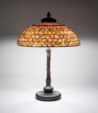 Tiffany Studios Fish Scale Table Lamp
