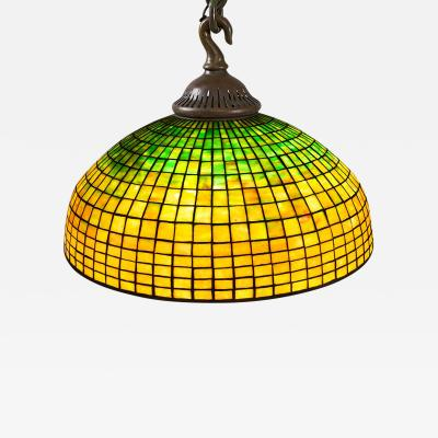 Tiffany Studios Geometric Brick Tiffany Chandelier
