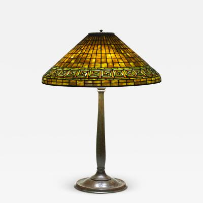 Tiffany Studios Greek Key Table Lamp
